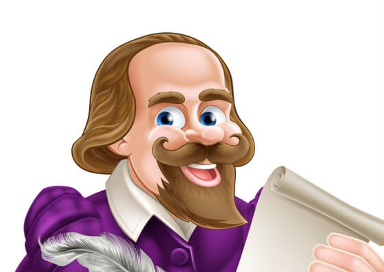 William Shakespeare caricature